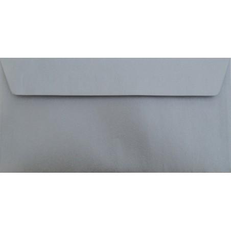 1 Briefumschlag Silber Din lang 11 x 22 cm mit Haftstreifen