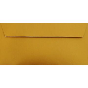 1 Briefumschlag Gold Din lang 11 x 22 cm mit Haftstreifen