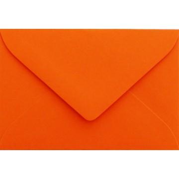 1 Briefumschlag Mini geeignet für Visitenkarten Mandarine 6 x 9 cm Verschluss-Technik: feuchtklebend