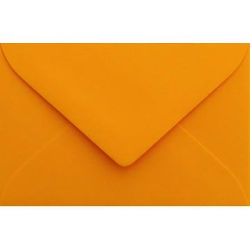 1 Briefumschlag Mini geeignet für Visitenkarten Orange 6 x 9 cm Verschluss-Technik: feuchtklebend
