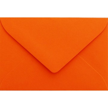 1 Briefumschlag Mini Mandarine 5,1 x 7,0 cm Verschluss-Technik: feuchtklebend