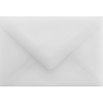 1 Briefumschlag Mini Transparente Weiß 5,1 x 7,0 cm Verschluss-Technik: feuchtklebend
