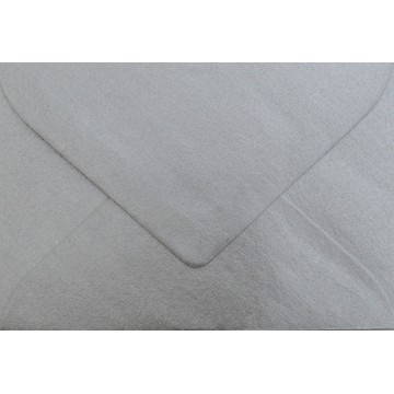 1 Briefumschlag B6 125 x 176 mm Silber Verschluss-Technik: feuchtklebend