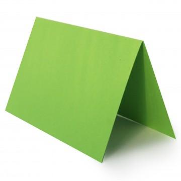 1 Tischkarte zum selbst Beschriften - Gras Grün Grammatur: 240 g/m² - 100 x 120 mm 10 x 12 cm