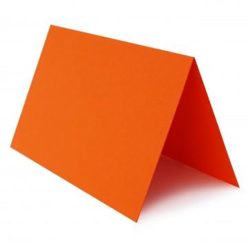 1 Tischkarte zum selbst Beschriften - Mandarine Grammatur: 240 g/m² - 100 x 120 mm 10 x 12 cm