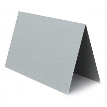 1 Tischkarte zum selbst Beschriften - Silber Grammatur: 240 g/m² - 100 x 120 mm 10 x 12 cm
