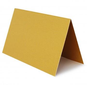 1 Tischkarte zum selbst Beschriften - Gold Grammatur: 240 g/m² - 100 x 120 mm 10 x 12 cm