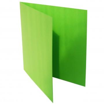 1 Quadratische Klappkarte zum selbst Beschriften Gras Grün