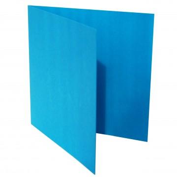 1 Quadratische Klappkarte zum selbst Beschriften Blau