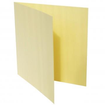 1 Quadratische Klappkarte zum selbst Beschriften Hell Gelb