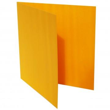 1 Quadratische Klappkarte zum selbst Beschriften Orange