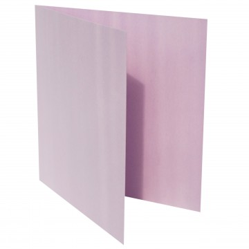 1 Quadratische Klappkarte zum selbst Beschriften Flieder
