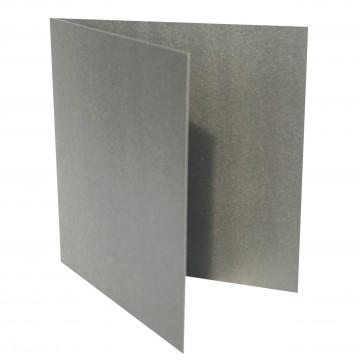 1 Quadratische Klappkarte zum selbst Beschriften Silber