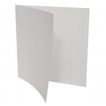 1 Quadratische Klappkarte zum selbst Beschriften Transparente/ Weiß