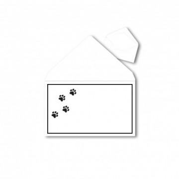 1Trauerumschlag für Tiere (Tiere) B6 120 x 176 mm Polar Weiß mit Schwarzen Rahmen