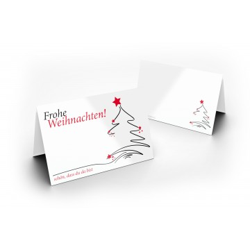 25 Wunderschöne Weihnachts Tischkarten (Weihnachtsbaum) UV-Lack glänzend - für Hochzeit, Geburtstag,