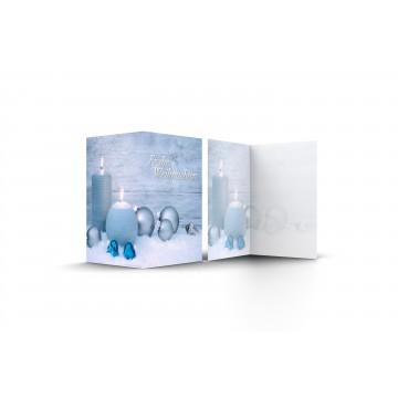"""25 Wunderschöne Weihnachtskarten Frohe Weihnachten mit Weihnachtskugeln und Kerzen """""""", A6,"""