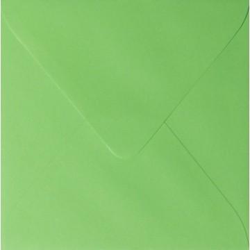 1 Briefumschlag 11,0 x 11,0 cm 110 x 110 mm Gras Grün Verschluss: feuchtklebend
