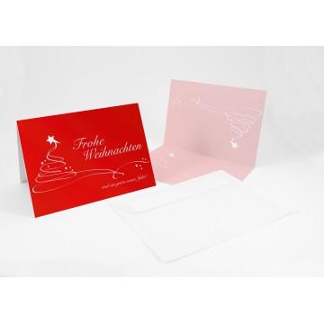 """Wunderschöne Weihnachtskarten + Umschlag """"Christmas Swing"""", A6,"""