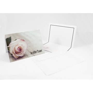 """Stielvolle Beileidskarten ,Trauerkarten + Umschlag """"In stiller Trauer"""", A6,"""