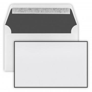 Trauer Briefumschläge (120 x 191 mm) Weiß , Verschluss-Technik: Haftklebung mit Abziehstreifen Grammatur: 100 g/m²