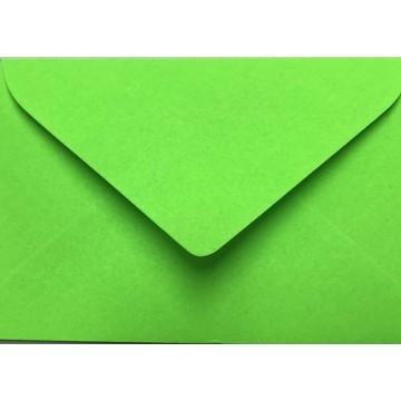 1 Briefumschlag Mini geeignet für Visitenkarten Neon Grün 6 x 9 cm Verschluss-Technik: feuchtklebend