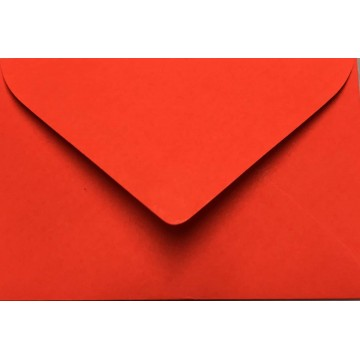 1 Briefumschlag Mini geeignet für Visitenkarten Neon Rot 6 x 9 cm Verschluss-Technik: feuchtklebend
