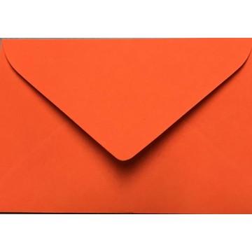 1 Briefumschlag Mini geeignet für Visitenkarten Neon Orange 6 x 9 cm Verschluss-Technik: feuchtklebend