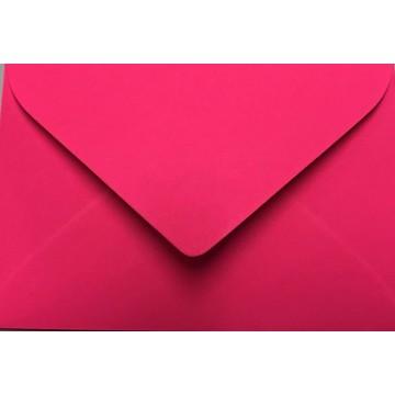 1 Briefumschlag Mini geeignet für Visitenkarten Neon Pink 6 x 9 cm Verschluss-Technik: feuchtklebend