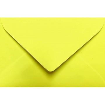 1 Briefumschlag Mini geeignet für Visitenkarten Neon Gelb 6 x 9 cm Verschluss-Technik: feuchtklebend