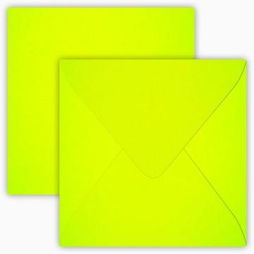 1 Briefumschlag 12,5 x 12,5 cm 125 x 125 mm Neon Gelb Verschluss: feuchtklebend