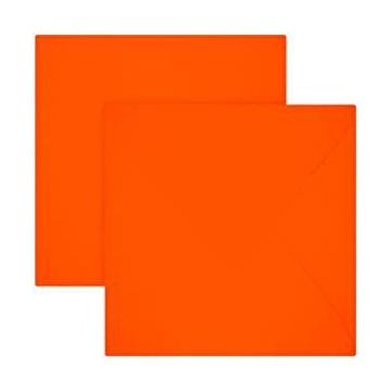 1 Briefumschlag 12,5 x 12,5 cm 125 x 125 mm Neon Orange Verschluss: feuchtklebend