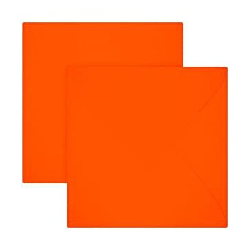 1 Briefumschläge 15,0 x 15,0 cm 150 x 150 mm Neon Orange Verschluss: feuchtklebend