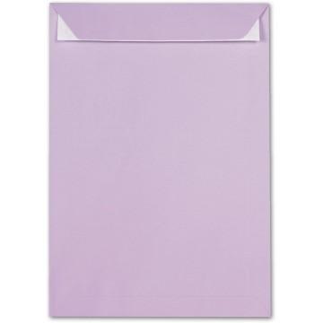 Versandtaschen Flieder DIN C4  120 g/m² - 229 x 324 mm 22,9 x 32,4 cm - selbstklebend mit Abziehstreifen - mit Fenster