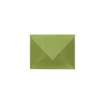 1 Briefumschlag B6 DIN (12,5 x 17,6 cm) Pistazie , mit dreieckiger Lasche zum Kleben ohne Fenster mit Innenfutter Weiß!