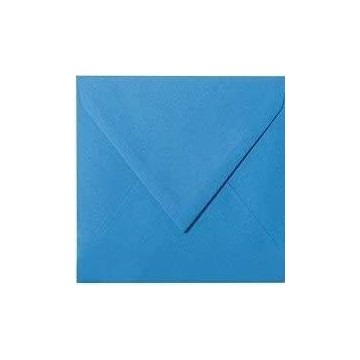 1 Briefumschlag 15 x 15 cm 150 x 150 mm Blau Verschluss: feuchtklebend