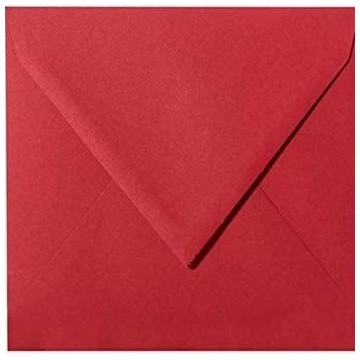 1 Briefumschlag 15 x 15 cm 150 x 150 mm Rosen Rot Verschluss: feuchtklebend