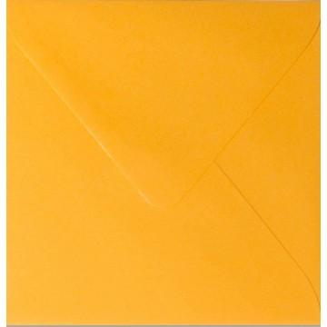 1 Briefumschlag 15 x 15 cm 150 x 150 mm Orange Verschluss: feuchtklebend