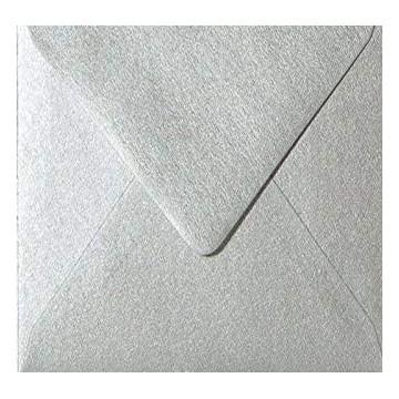 1 Briefumschlag 15,5 x 15,5 cm 155 x 155 mm Silber Verschluss: feuchtklebend