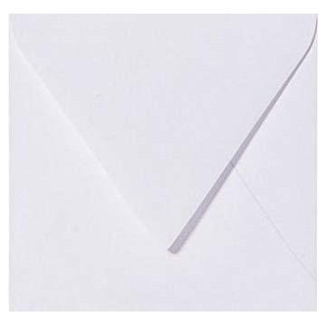 1 Quadratische Briefumschläge 15,5 x 15,5 cm 155 x 155 cm Weiß Verschluss-Technik: Haftklebend mit Dreieck Lasche