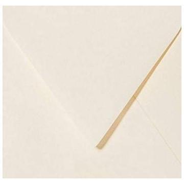 1 Briefumschlag 12,5 x 12,5 cm 125 x 125 mm Zart Creme Verschluss: feuchtklebend