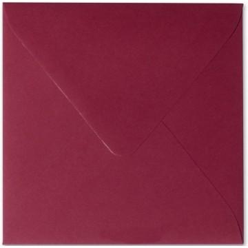 1 Briefumschlag 12,5 x 12,5 cm 125 x 125 mm Bordeaux Verschluss: feuchtklebend