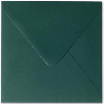 1 Briefumschlag 12,5 x 12,5 cm 125 x 125 mm Tannen Grün Verschluss: feuchtklebend