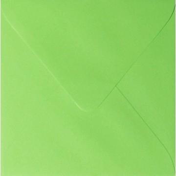 1 Briefumschlag 12,5 x 12,5 cm 125 x 125 mm Hell Grün Verschluss: feuchtklebend