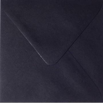 1 Briefumschlag 12,5 x 12,5 cm 125 x 125 mm Schwarz Verschluss: feuchtklebend
