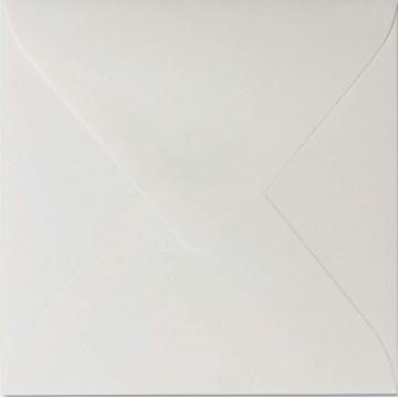 1 Briefumschlag 12,5 x 12,5 cm 125 x 125 mm Hell Grau Verschluss: feuchtklebend