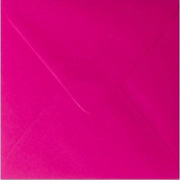 1 Briefumschlag 12,5 x 12,5 cm 125 x 125 mm Pink Verschluss: feuchtklebend