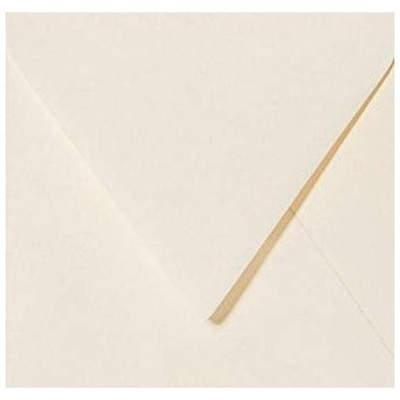 1 Briefumschlag 13,0 x 13,0 cm 130 x 130 mm Zart Creme Verschluss: feuchtklebend