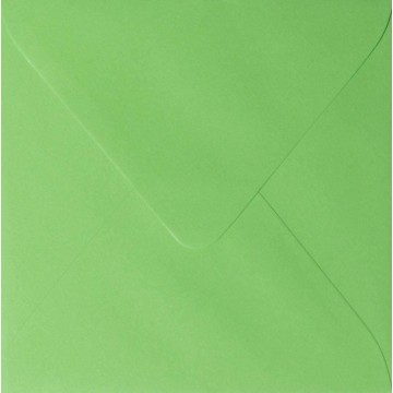 1 Briefumschlag 13,0 x 13,0 cm 130 x 130 mm Gras Grün Verschluss: feuchtklebend