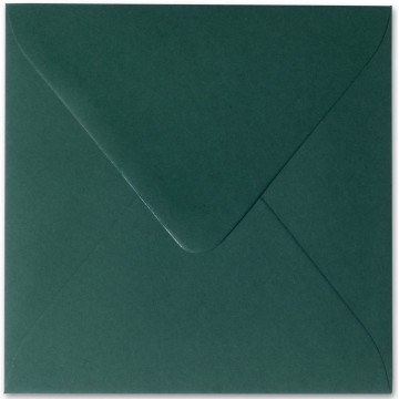 1 Briefumschlag 13,0 x 13,0 cm 130 x 130 mm Tannen Grün Verschluss: feuchtklebend